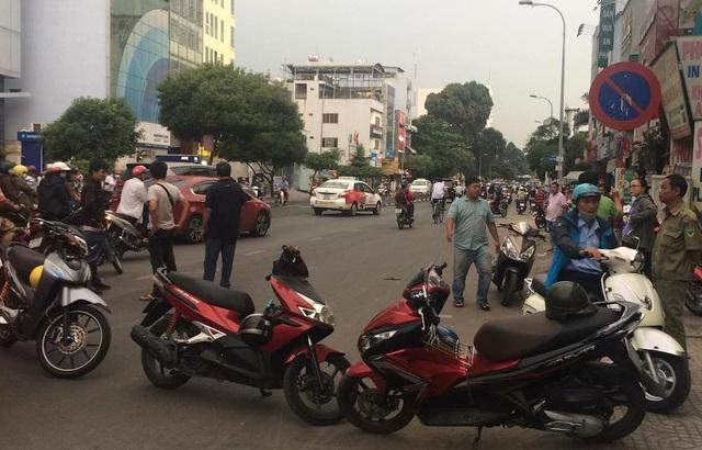 Hiện trường vụ va chạm giao thông dẫn đến án mạng