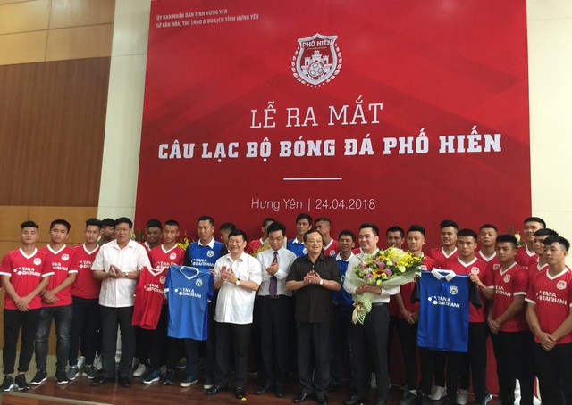 CLB Bóng đá Phố Hiến được sự quan tâm lớn của lãnh đạo tỉnh Hưng Yên