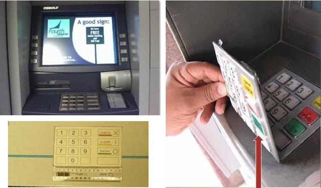 Thiết bị đọc trộm thông tin thẻ gắn trên máy ATM
