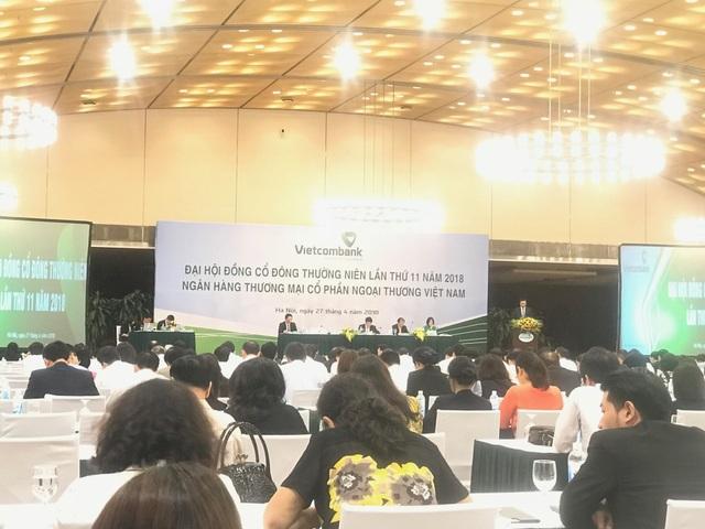 Sáng nay 27/4, Ngân hàng TMCP Ngoại Thương Việt Nam (Vietcombank) tổ chức đại hội đồng cổ đông (ĐHĐCĐ) thường niên 2018 tại Hà Nội.