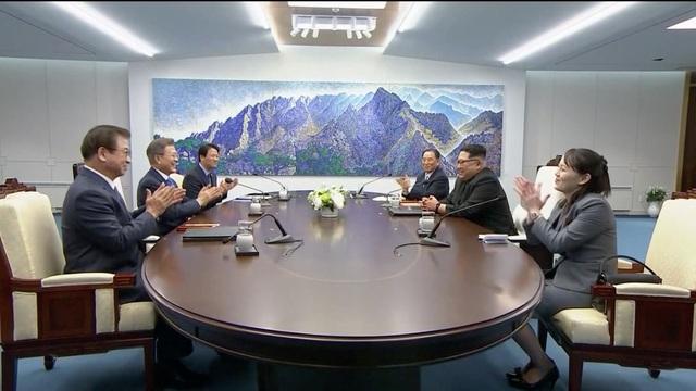 Bà Kim Yo Jong cũng tham gia đoàn đại biểu cấp cao của Triều Tiên tới dự Thế vận hội mùa Đông tại Hàn Quốc hồi tháng 2 năm nay. (Ảnh: AFP)