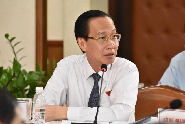 Phó Chủ tịch UBND TPHCM Lê Thanh Liêm cho biết tỷ trọng vốn ngân sách trong tổng vốn đầu tư xã hội có xu hướng giảm là tính hiệu tích cực