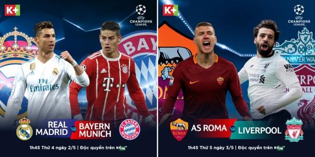 Đội nào sẽ giành vé vào chung kết C1? Câu trả lời sẽ có trên kênh K+PM