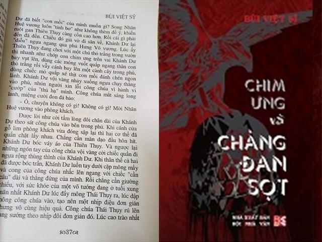 Đoạn mô tả cảnh quan hệ ái ân của Trần Khánh Dư và công chúa Thiên Thụy trong Chim ưng và chàng đan sọt đã tạo nên những tranh cãi trái chiều. Ảnh: TL.