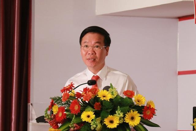 Ong Võ Văn Thưởng - Ủy viên Bộ Chính trị, Bí thư Trung ương Đảng, Trưởng Ban Tuyên giáo Trung ương phát biểu chỉ đạo hội thảo