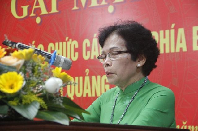 Cựu nhà giáo Nguyễn Thị Yên – Trưởng Ban liên lạc Hội cựu giáo chức đi B Quảng Trị chia sẻ nhiều câu chuyện xúc động