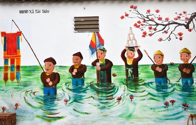 Các bức tranh đường phố được người dân địa phương hưởng ứng, tạo thêm điểm nhấn ấn tượng với du khách khi tới tham quan di tích.