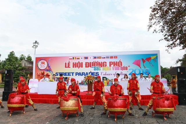 Buổi khai mạc Lễ hội Quảng diễn đường phố tại Cung An Định
