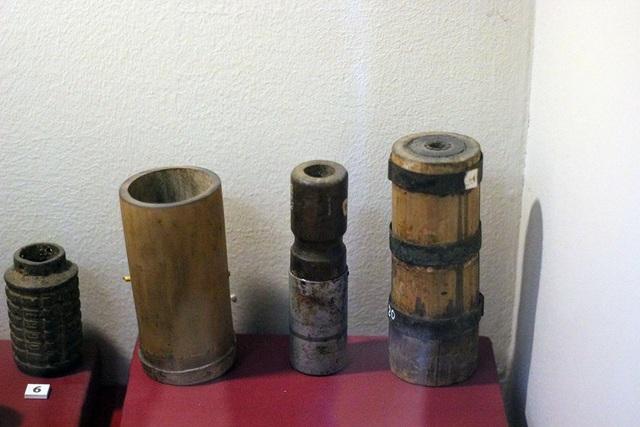 Lựu đạn bằng tre cũng là một trong những loại vũ khí tự chế được sử dụng rất hiệu quả trong cả hai cuộc kháng chiến chống Pháp và chống Mỹ.