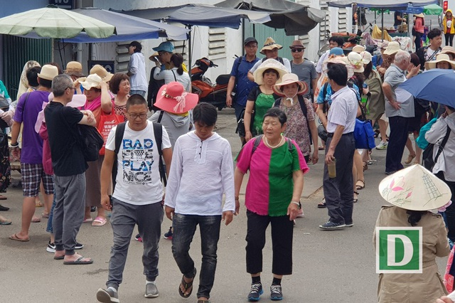 Trong các đoàn khách Trung Quốc đến Nha Trang cũng có rất nhiều người già, có tuổi