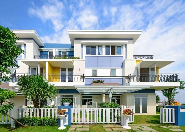 Nhiều khu nhà đã xây xong và hoàn thiện nội thất