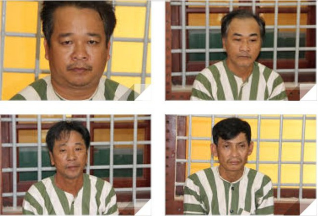 Dũng, Văn Đức, Thái Đức, Tùng tại cơ quan điều tra