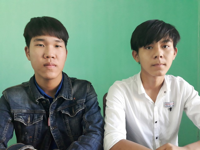 Em Phan Phước Thành Long (trái) và Nguyễn Duy Thành (phải)