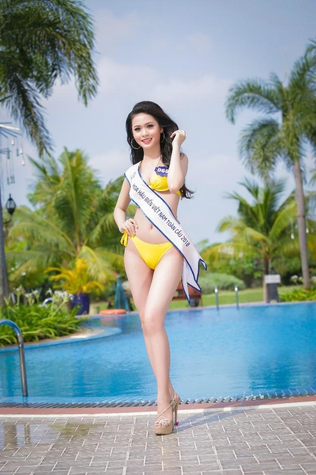 """Là một trong những thí sinh có chiều cao """"khủng"""" của top 70, Kim Ngọc được kỳ vọng sẽ có màn trình diễn ấn tượng để giành 1 suất vào đêm chung kết."""