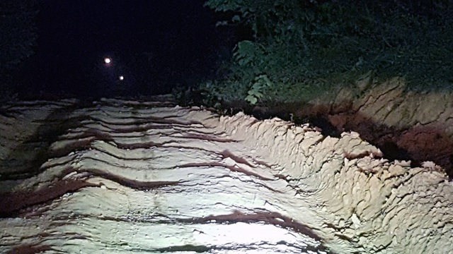 Vào ban đêm con đường Thạch Ngàn trở nên ám ảnh đối với những người khách lạ vào đây.