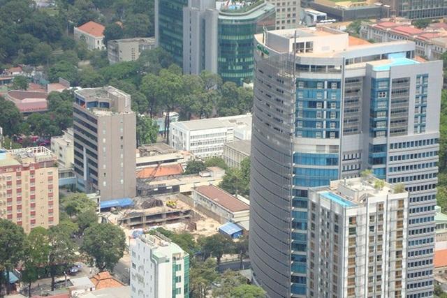 Một góc khu trung tâm TP Hồ Chí Minh đang đổi mới, phát triển.