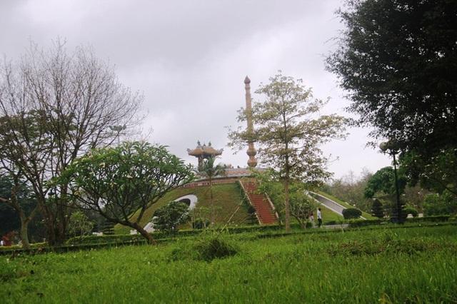 Cỏ xanh trong khuôn viên Thành cổ Quảng Trị. Nơi thấm đẫm máu xương của hàng vạn chiến sĩ