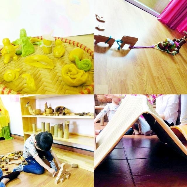 Giáo dục Waldorf chủ trương chỉ dùng những đồ chơi được làm từ thiên nhiên và tận dụng những vật dụng xung quanh để kích thích sự sáng tạo của trẻ.