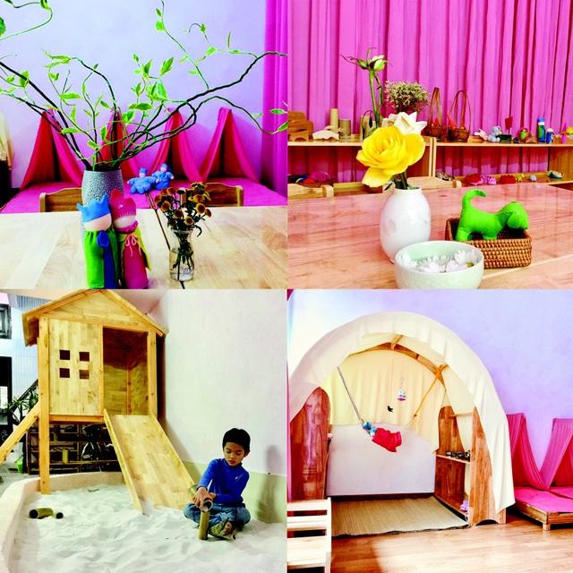 Giáo dục Waldorf rất chú trọng phát triển 12 giác quan nên màu sắc và sự bài trí trong trường phải được tuân theo cách bước phát triển não bộ.
