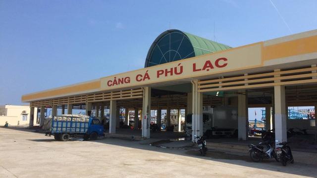 Cảng cá Phú Lạc mới được nâng cấp nhưng vẫn đang trong tình trạng quá tải