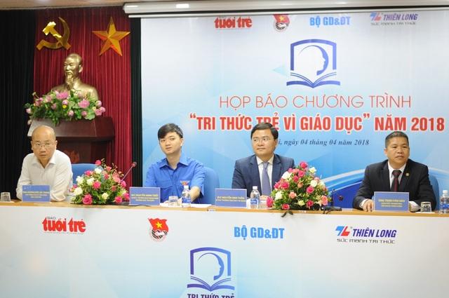 Họp báo Tri thức trẻ vì giáo dục 2018 vừa diễn ra tại Hà Nội.