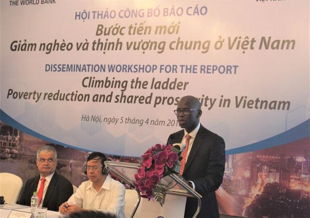 Ông Ousmane Dione, Giám đốc Quốc gia của WB tại Việt Nam phát biểu tại hội thảo. (Ảnh: Hồng Vân)