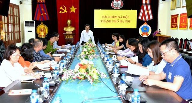 Buổi làm việc giữa BHXH Hà Nội và 10 doanh nghiệp nợ BHXH