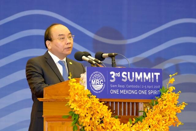 Thủ tướng Nguyễn Xuân Phúc phát biểu tại Hội nghị MRC