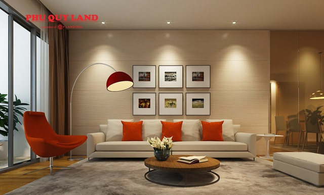 Sky Park Residence được trang bị nội thất sang trọng, hiện đại