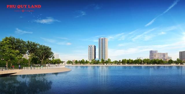 Sky Park Residence sở hữu tầm view thoáng rộng ra Công viên Cầu Giấy, Công viên hồ điều hòa Yên Hòa