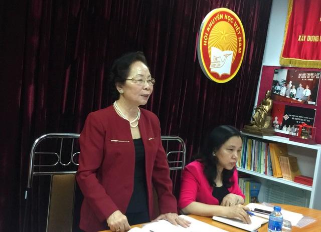 Chủ tịch Hội Khuyến học Việt Nam Nguyễn Thị Doan phát biểu khai mạc.