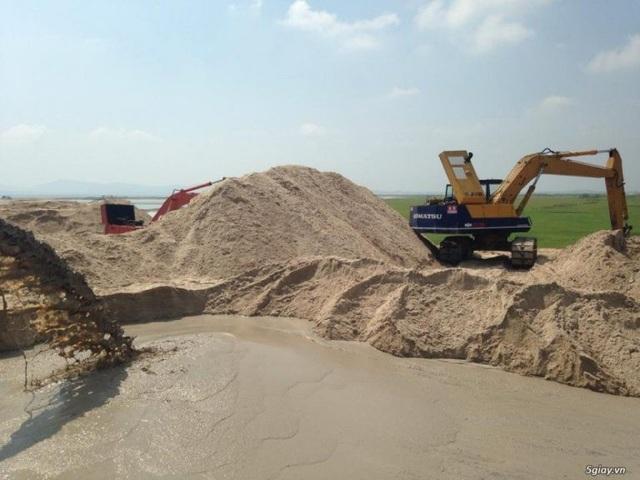 Khai thác cát, một hoạt động của ATG