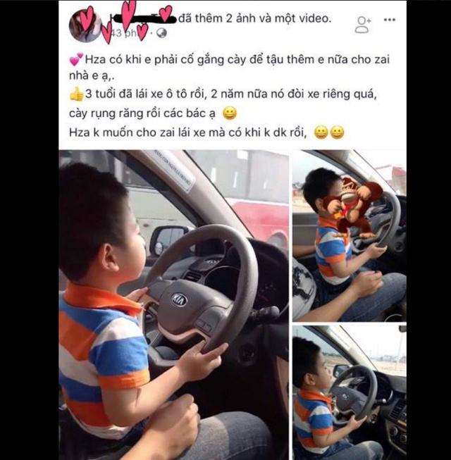 Hình ảnh và clip được mẹ cháu bé chia sẻ trên mạng xã hội khiến cộng đồng bức xúc.