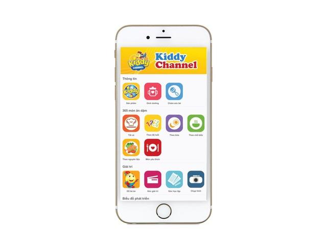 Giao diện ứng dụng Kiddy Channel đang được nhiều mẹ bỉm sữa nhắc đến