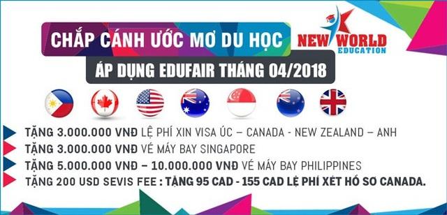 Triển lãm du học Canada, Úc, Mỹ, New Zealand, Singapore, Philippines 4/2018 - 3