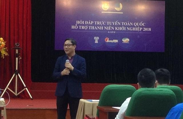 Ông Đặng Huy Đông phát biểu trong buổi tập huấn giao lưu trực tuyến