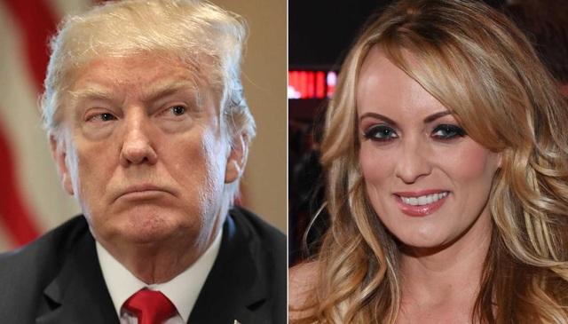 Tổng thống Donald Trump và Stormy Daniels (Ảnh: AP/CNN)