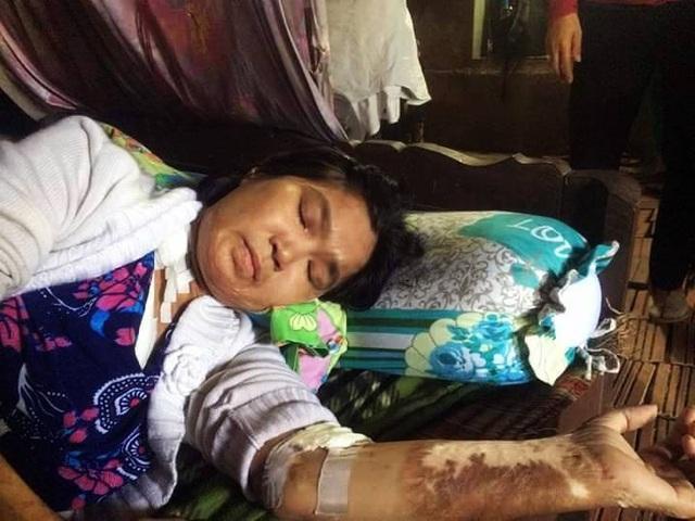 Bệnh tật khiến chị Hồng mệt mỏi, kiệt sức