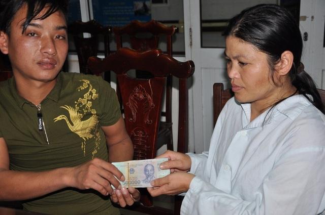 Em chia sẻ số tiền 56.915.000 đồng cho gia đình anh Nam.