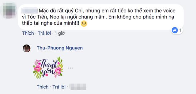"""Một cư dân mạng gây xôn xao với dòng bình luận """"tẩy chay"""" Thu Phương """"chung mâm"""" với Noo Phước Thịnh, Tóc Tiên."""