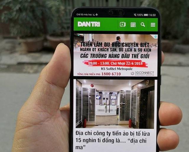 Huawei P20 Pro về Việt Nam theo đường xách tay