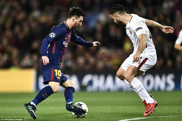 Messi không ghi bàn, nhưng chơi khá hay trước AS Roma ở lượt đi
