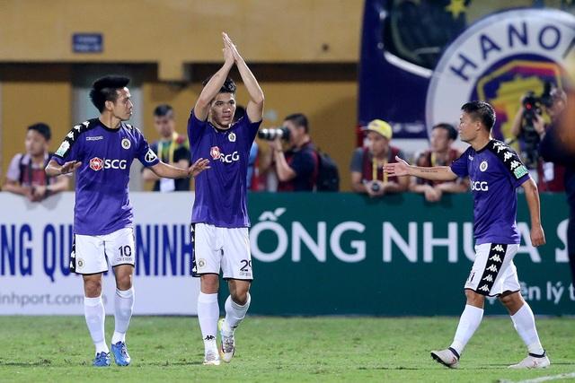 CLB Hà Nội dẫn đầu V-League sau 5 vòng đầu tiên (ảnh: Gia Hưng)