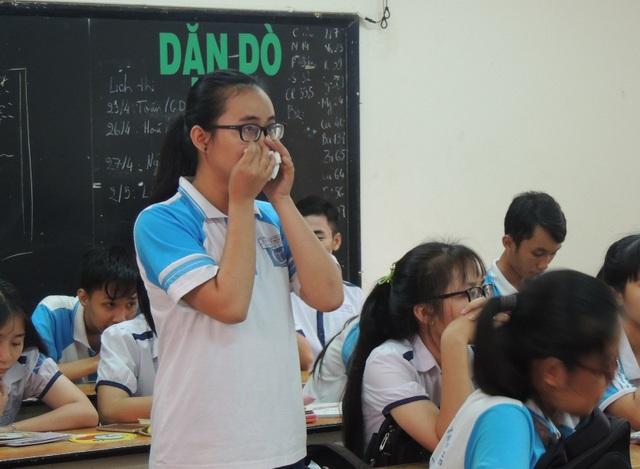 Em Phạm Song Toàn - người phản ánh cô giáo không giảng bài tại buổi đối thoại của Sở GD-ĐT TPHCM.