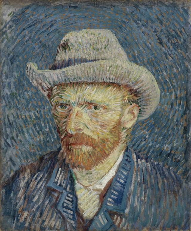 Van Gogh, một trong những họa sĩ nổi tiếng nhất trong lịch sử mỹ thuật qua đời hồi năm 1890 ở tuổi 37 vì tự sát bằng súng. Trong ảnh là một bức tự họa của Van Gogh.