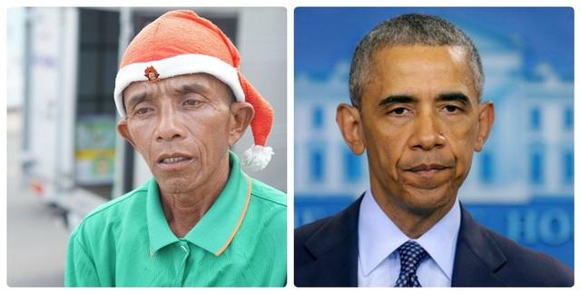 Chú Dũng (bên trái ảnh) khá giống với cựu Tổng thống Mỹ Obama (bên phải ảnh)