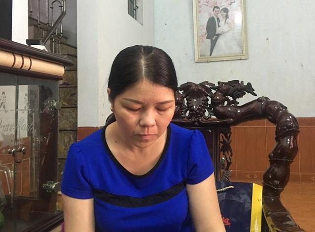 Chị Lê Thị Nê, vợ anh Nam bức xúc vì vụ việc liên quan đến chồng chị chưa được giải quyết thỏa đáng