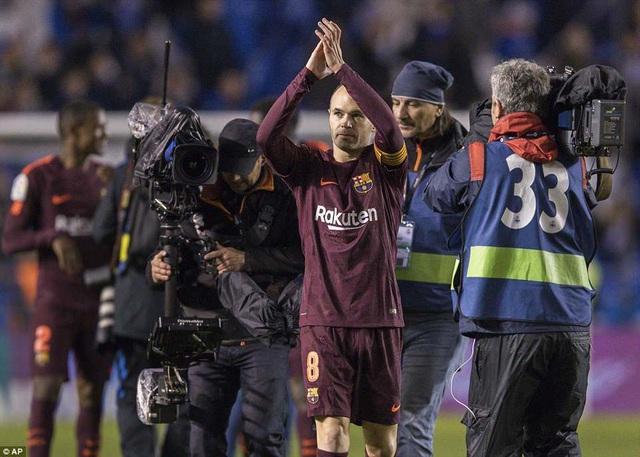 Iniesta đã có cú đúp danh hiệu quốc nội sau khi chia tay Barcelona