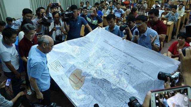 Tấm bản đồ 1/5000 mà ông Quang lưu giữ