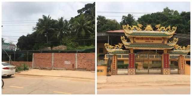 Khu đất có xây tường rào hiện Ban quản trị Chuông Am tranh chấp với ông Nguyễn Văn Mười